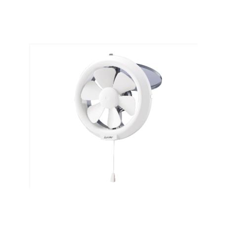MITSUBISHI พัดลมระบายอากาศแบบติดกระจก ขนาด 8 นิ้ว แบบดูดอากาศออก ควบคุมฝาเปิด-ปิด ด้วยเชือก V-20SL6T สีขาว