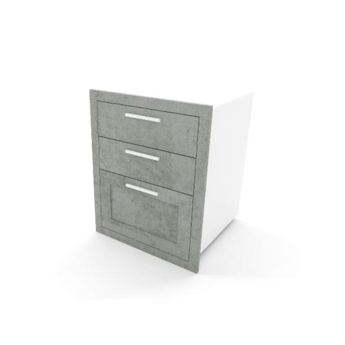 READY KITCH ตู้ลิ้นชักลูกฟัก สีซีเมนต์  CD 5060D