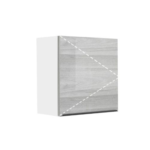 ตู้แขวนเดี่ยวบานเปิด GLOSSY KEM-GLR-W-FT-6060X-CW สีคริสตัลไวท์ KITZCHO