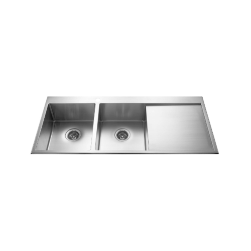 MEX อ่างล้างจาน 2 หลุมมีที่พัก SRS1162 MEX SRS1162
