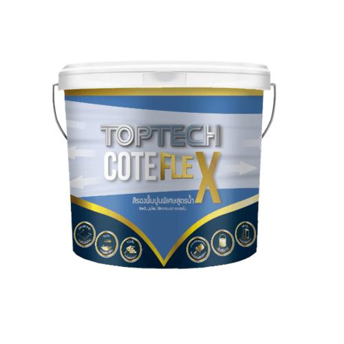 DELTA สีรองพื้นอเนกประสงค์ ท็อปเทค โค้ดเฟล็ก 2.5 แกลลลอน  Toptech Coat Flex สีขาว