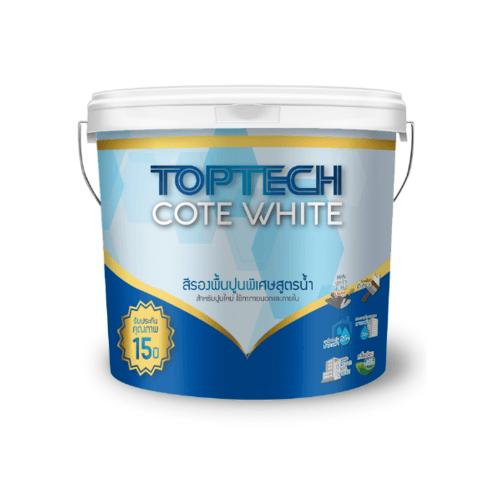 DELTA สีรองพื้นปูนอเนกประสงค์สูตรน้ำ ท็อปเทค โค้ดไวท์ 2.5 แกลลอน Toptech Cote White สีขาว