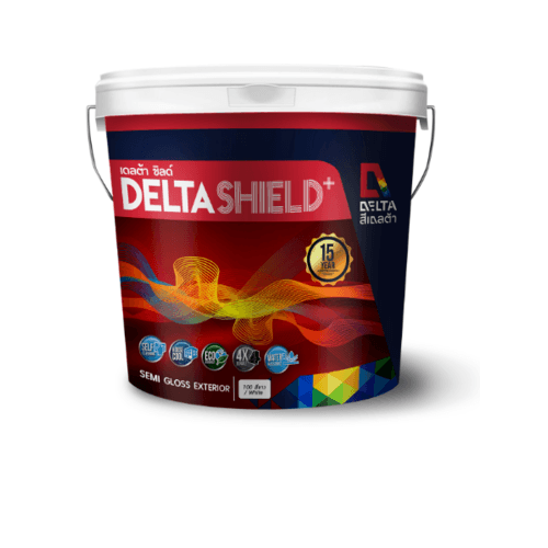 DELTA เดลต้าชิลด์พลัส เบส D ขนาด2.5 กล. Base D สีขาว