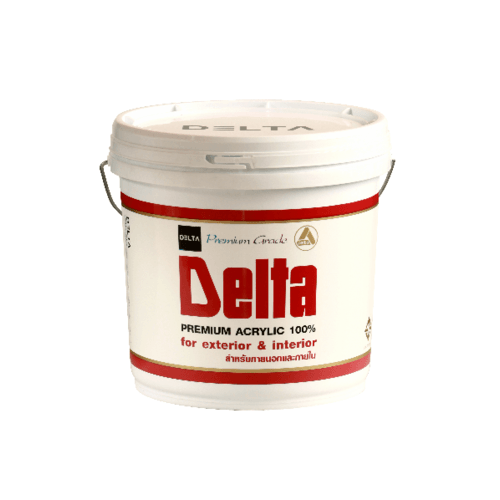 DELTA สีน้ำภายนอก  Base C  ขาว