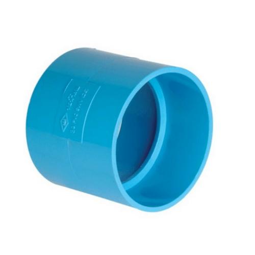 ท่อน้ำไทย ข้อต่อตรงบาง ขนาด  2 นิ้ว สีฟ้า
