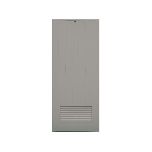 CHAMP  ประตูพีวีซี เกล็ดล่างขนาด 90x200ซม.  (เจาะ) M2 สีเทา