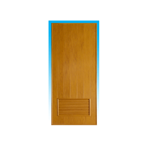 CHAMP  ประตูพีวีซี พร้อมเกล็ดระบายอากาศ ขนาด  60x200ซม. สีลายไม้สักทอง (ไม่เจาะ) P2