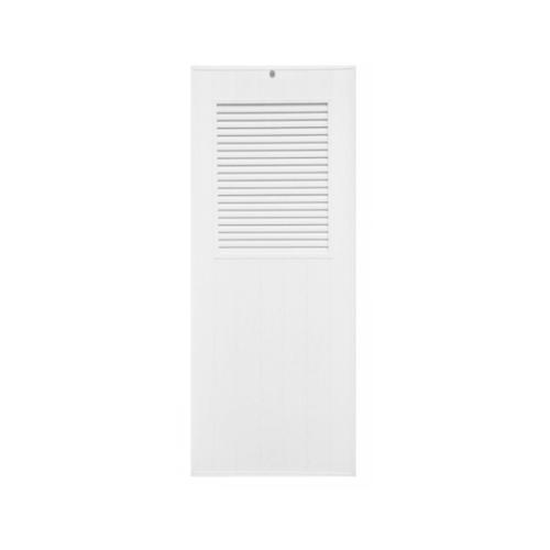 CHAMP  ประตูยูพีวีซี เกล็ดครึ่งบานบน ขนาด 80x200ซม. (ไม่เจาะ) M3 สีขาว