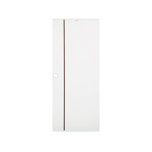 CHAMP ประตูยูพีวีซี บานทึบเซาะร่องสีโอ๊คแดง ขนาด70x180ซม.  (เจาะ) idea uPVC-1 สีขาว