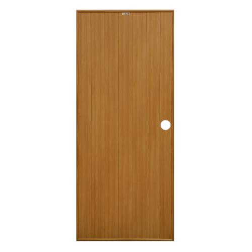 CHAMP ประตู PVC  ขนาด 80cm.x180cm.   P1 สีลายไม้สักทอง (เจาะ)