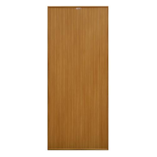 CHAMP ประตูพีวีซี บานทึบ ขนาด 80x180cm.   P1 สีลายไม้สักทอง ไม่เจาะ