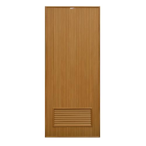 CHAMP ประตูขนาด (80x180) ซม. P2 สีลายไม้สักทอง (ไม่เจาะ)
