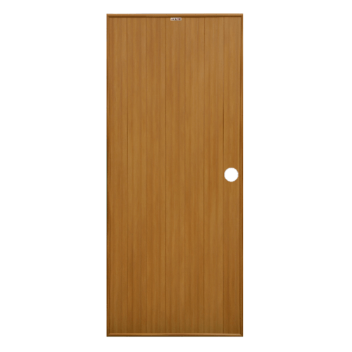 CHAMP ประตูขนาด (80x200)ซม. P 1 สีลายไม้สักทอง(เจาะ)