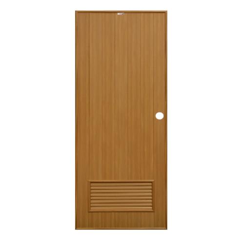 CHAMP ประตู ขนาด 80x200ซม.  P2 สีลายไม้สักทอง(เจาะ)