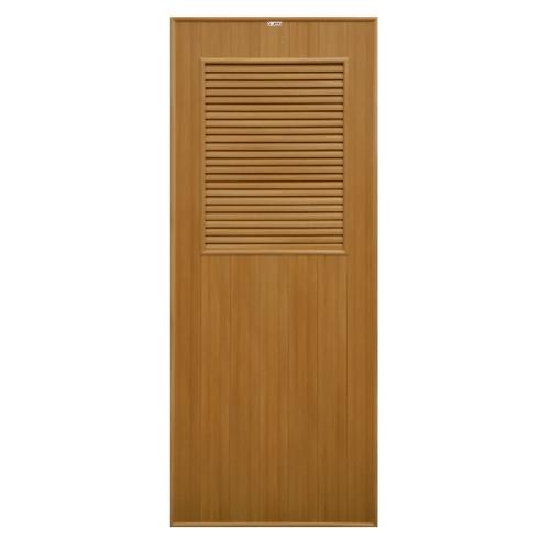 CHAMP ประตูPVC ขนาด (80X200)ซม. P-3 สีไม้สักทอง(ไม่เจาะ)