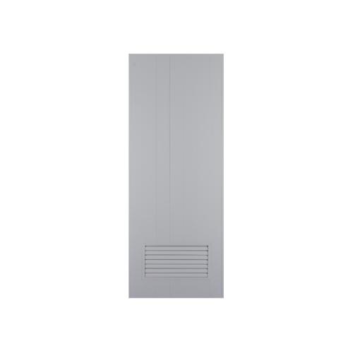 CHAMP ประตู PVC  เกล็ดล่าง ขนาด 90cm.x200cm.  M2 ไม่เจาะ  สีเทา