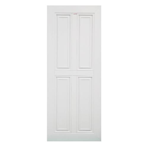 CHAMP ประตู UPVC สี่ฟักตรง ขนาด70cm.x200cm.ไม่เจาะ  MU-2 สีขาว