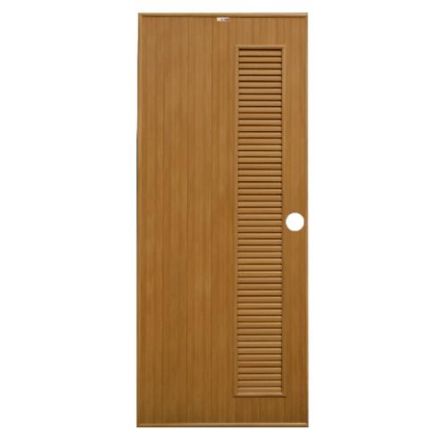 CHAMP ประตูพีวีซี ขนาด (70x200) ซม. P-6 สีสักทอง