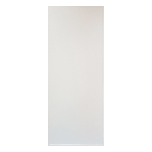 CHAMP ประตูพีวีซีบานทึบ  ขนาด70x180cm. S-TITAN1 ไม่เจาะ  สีขาว