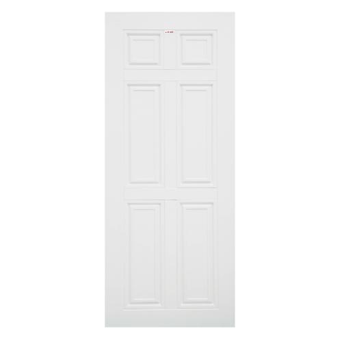 CHAMP ประตู UPVC 6 หักตรง ขนาด 90cm.x200cm. (ไม่เจาะ)  MU-1 สีขาว