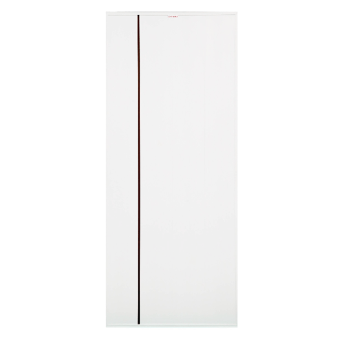 CHAMP ประตู UPVC เซาะร่องโอ๊คแดง ขนาด 70cm.x200cm.  (ไม่เจาะ)  Idea-1 สีขาว