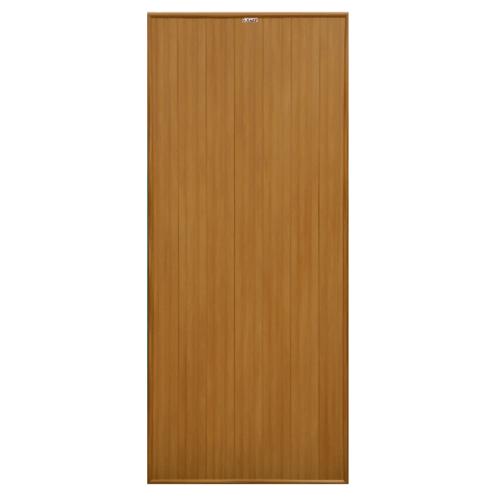 CHAMP  ประตูพีวีซี บานทึบ ขนาด 70x195ซม.  P1 สีลายไม้สักทอง (ไม่เจาะ)