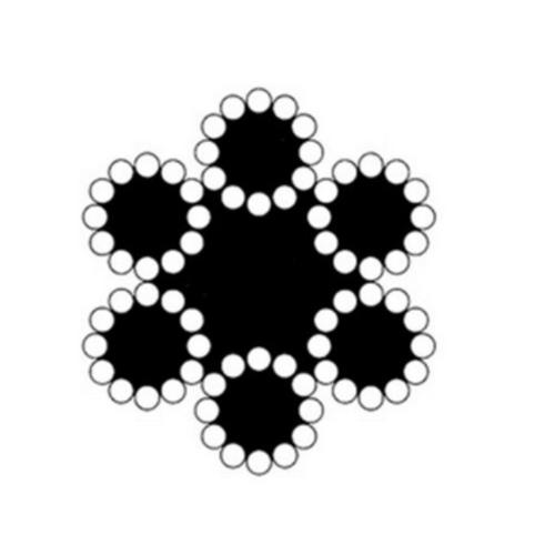 - ลวดสลิง6มิล 6x12 FC(เชือก)200ม./ม้วน -