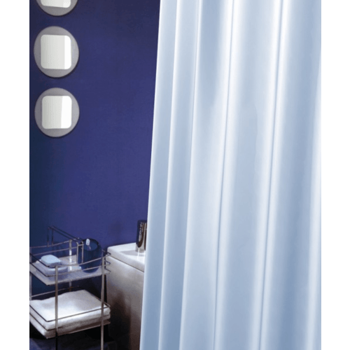 WSP ม่านห้องน้ำพลาสติกวีขาวมุก 180x180 ซม. SCP-5 สีขาว