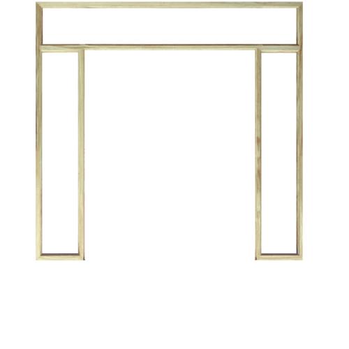 WINDOOR วงกบประตู  เรดวูด ขนาด 180x200  ซม. Com 16