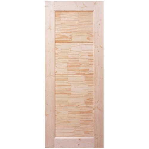 WINDOOR ประตูไม้สนNz บานทึบลวดลาย ขนาด 90x200ซม. CE02
