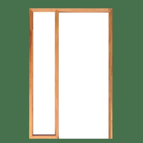 WINDOOR วงกบประตูไม้เต็งแดง ขนาด 90x200ซม. Com 2 ไม้ธรรมชาติ