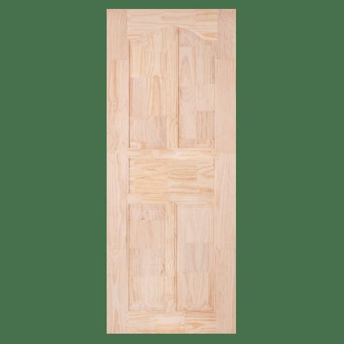 WINDOOR ประตูไม้สนนิวซีแลนด์ลวดลาย ขนาด 90x200ซม. CE-09