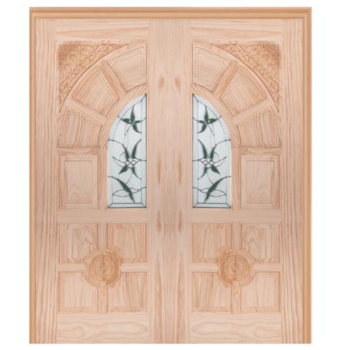 WINDOOR ประตู+กระจก  Com6 สนNz  ขนาด 90x200 ซม. ชัยพฤกษ์