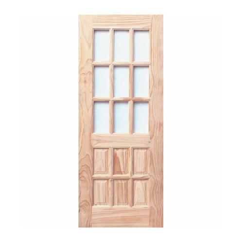 WINDOOR ประตู+กระจก สนNz ขนาด 70x200 ซม. L101
