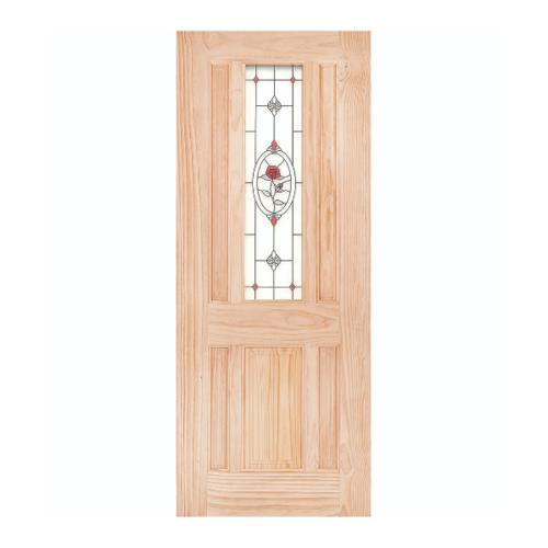 WINDOOR ประตู+กระจก MJ-04 สนNz 80x200 MJ-04 สีเหลือง