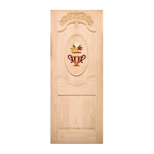 WINDOOR ประตูลวดลาย สนNz ขนาด  90x200 ซม. INLAY-05