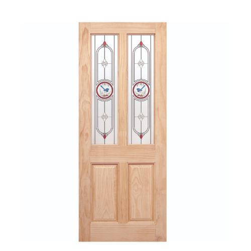 WINDOOR ประตู+กระจก สนNz ขนาด 90x200 ซม. MJ-05 สีเหลือง