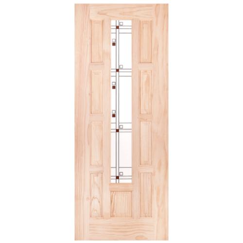 WINDOOR ประตู+กระจก สนNz 80x200 S.PRICE 01 สีเหลือง