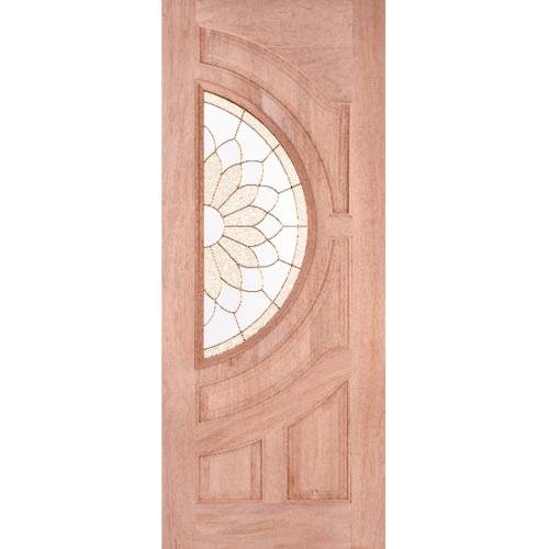 - ประตู+กระจก  ดูริโอ ขนาด90x200 ซม. sun flower