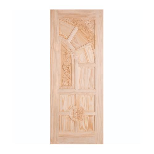 WINDOOR ประตูลวดลายไม้สนนิวซีแลนด์ ขนาด100x200ซม. LA666 สีเหลือง
