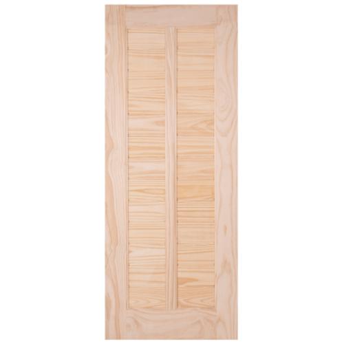 WINDOOR ประตูลวดลาย สนNz 80x200 L 163  สีเหลือง