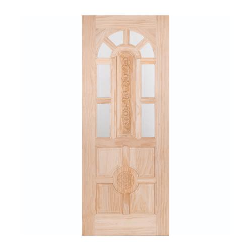 WINDOOR ประตู+กระจก  สนนิวซีแลนด์ ขนาด 90x200ซม. L 110 สีเหลือง