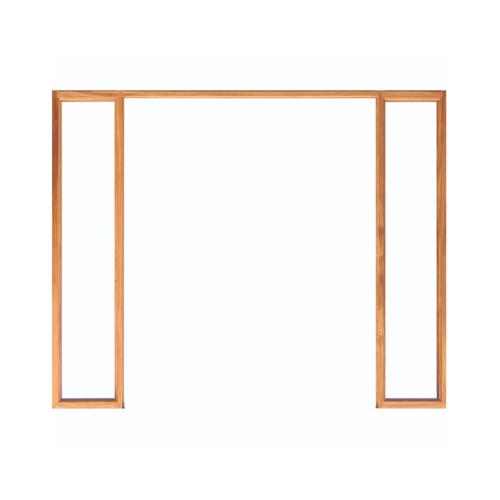 "WINDOOR วงกบประตู  เต็งแดง ขนาด160x200 4""x2นิ้ว COM 7 สีน้ำตาล"