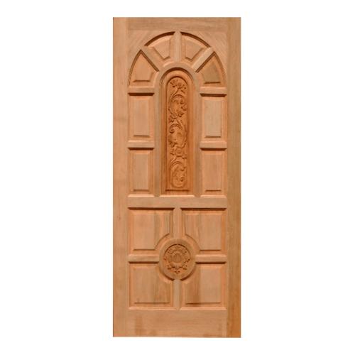 WINDOOR ประตูสลักลาย  สัก  ขนาด 80x200ซม. L136