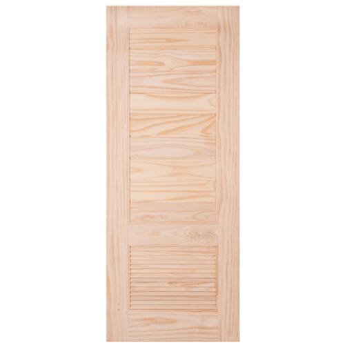 WINDOOR ประตูลวดลาย สนNz  ขนาด 70x200 CM. L 161  สีเหลือง