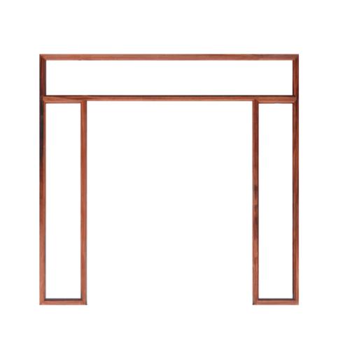WINDOOR วงกบประตูไม้แดง (2x4) ขนาด160x200cm.  COM 16 สีแดง