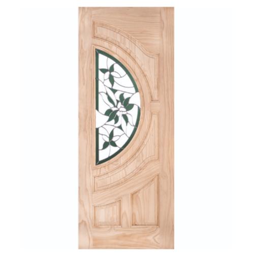 WINDOOR ประตู+กระจก สนNz ขนาด 90x200 ซม. GLARING GREEN