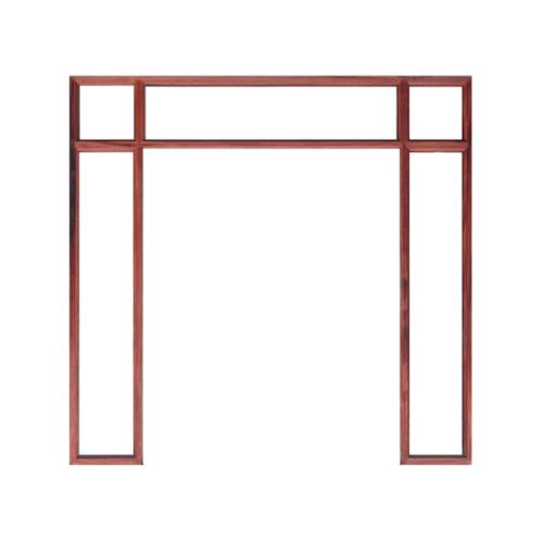 WINDOOR วงกบประตู Com 8ไม้แดง  ขนาด180x200 ซม.