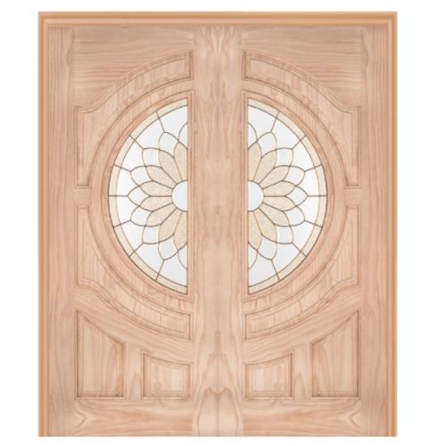 WINDOOR ประตู+กระจก  Com6 สนNz  ขนาด 80x200 ซม. SUN FLOWER