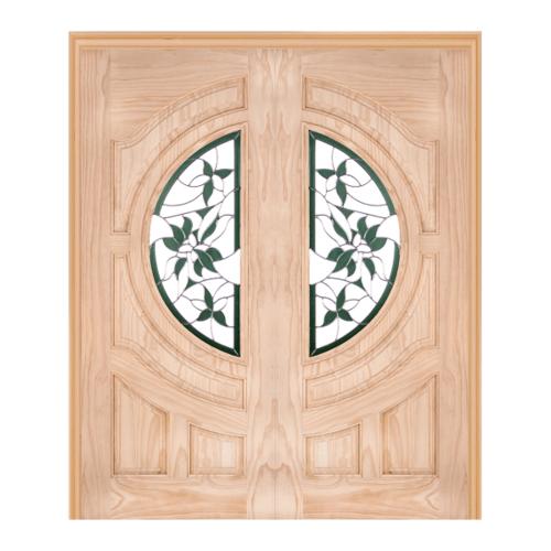 WINDOOR ประตู+กระจก  Com6 สนNz ขนาด 90x200ซม. GLARING GREEN สีเหลือง